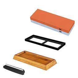 NUZAMAS Premium Knife Sharpening Stone 2 Side Grit 240/800 W