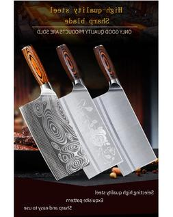 Knife Stainless Steel Cleaver Butcher Tool Meat Chopper Cutt