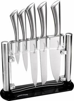 Stainless Steel 6 Piece Knives Set Home Kitchen With Storing