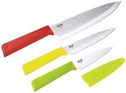 "Kuhn Rikon""Colori+ Classic"" 3 Piece Professional Knives Set,"