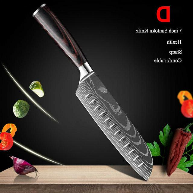 10Pcs Knife Set Japanese Stainless Steel Chef Best