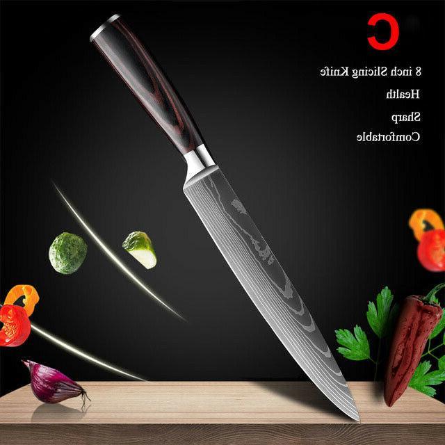 10Pcs Knife Japanese Damascus Steel