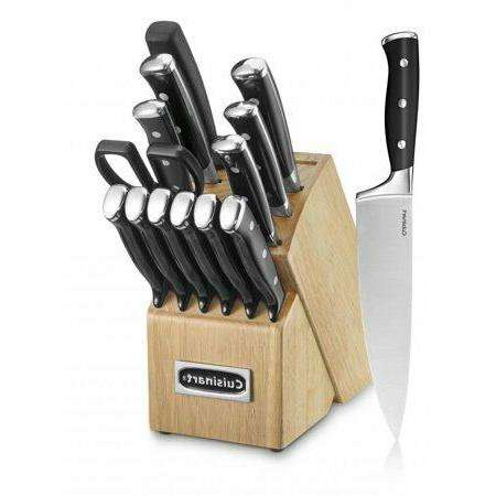 Cuisinart 15 Piece Cutlery Set with Block, Black Stainless K
