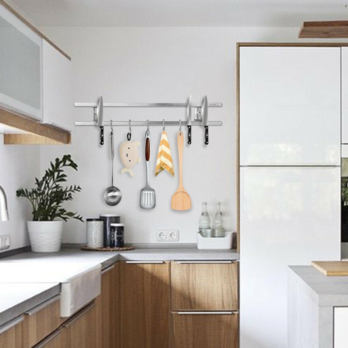16 Magnetic Knife Holder Wall Kitchen Tools Set