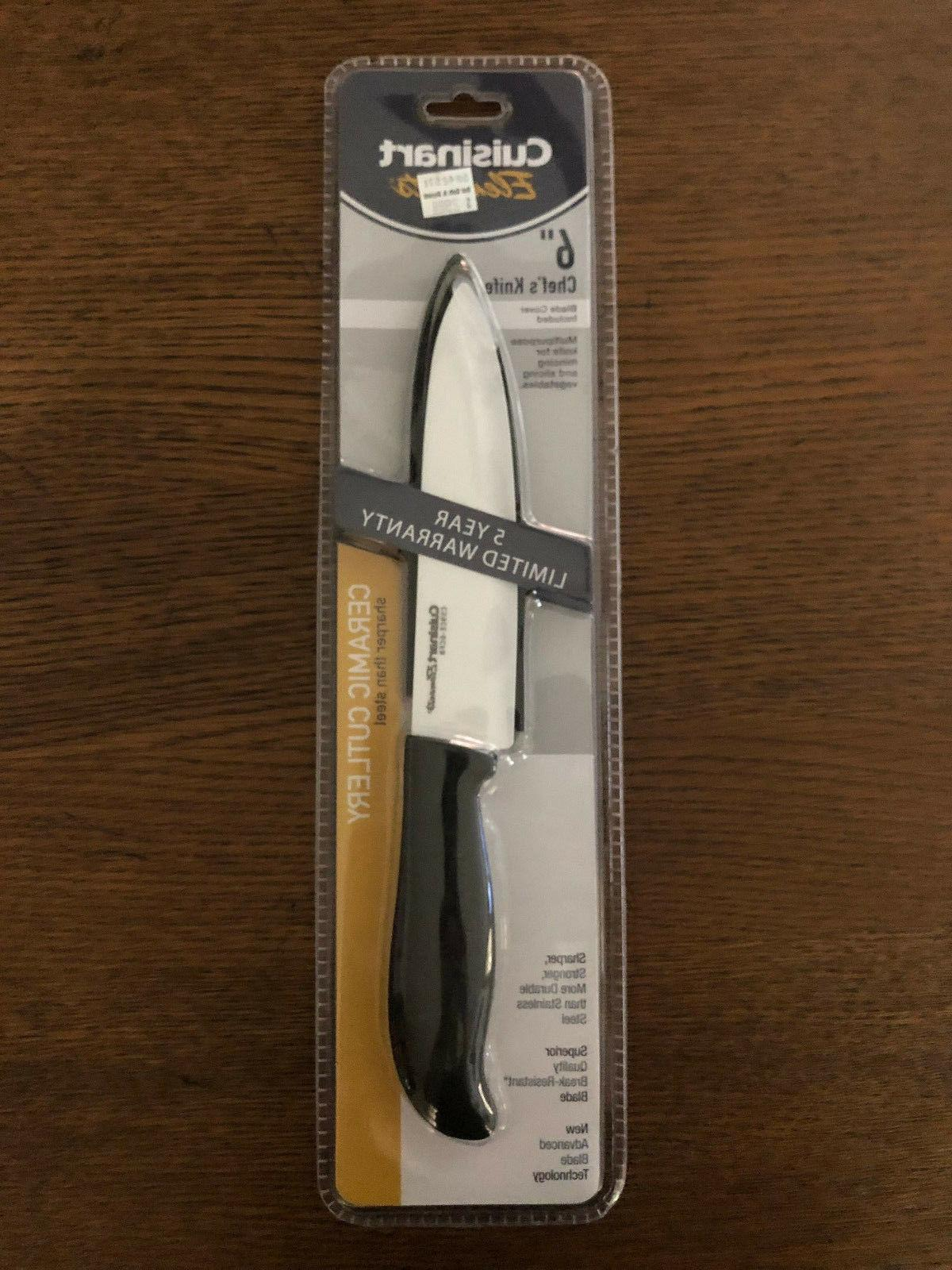CUISINART 2 KNIFE SET CHEFS KNIVE ELEMENTS CERAMIC CUTLERY
