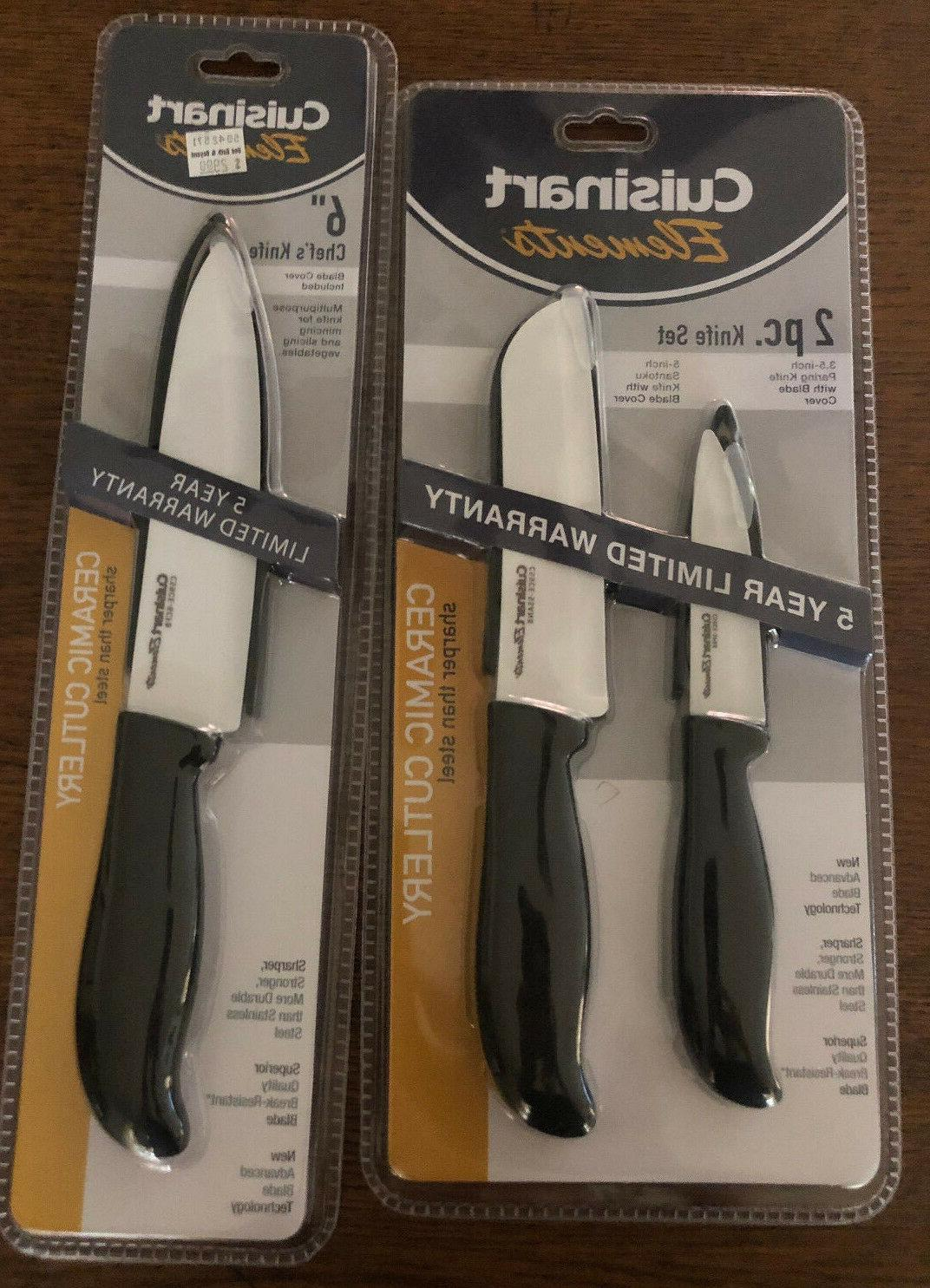 2 pc kitchen knife set and 6