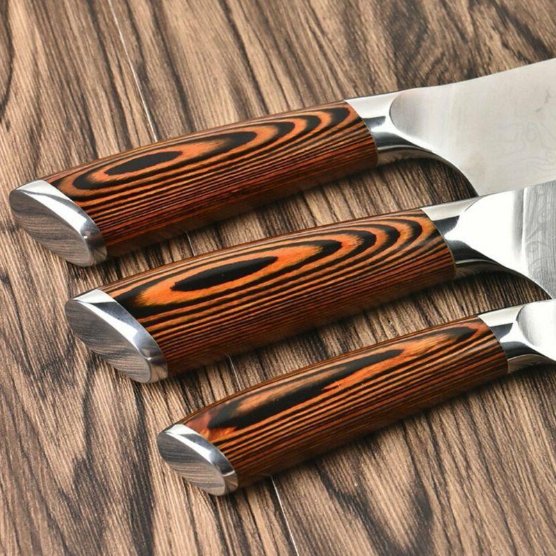 3Pcs Professional Japanese Chef Knives Kitchen