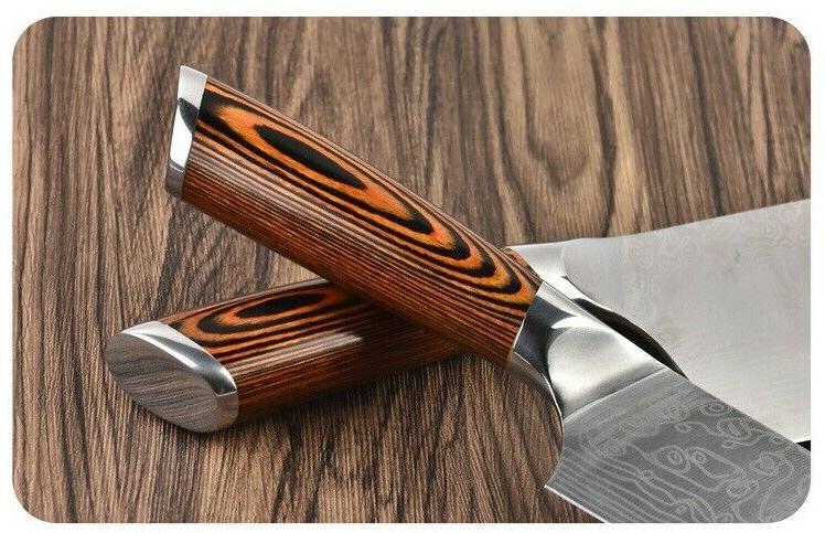 3PCS Kitchen Japanese Kiritsuke Knife