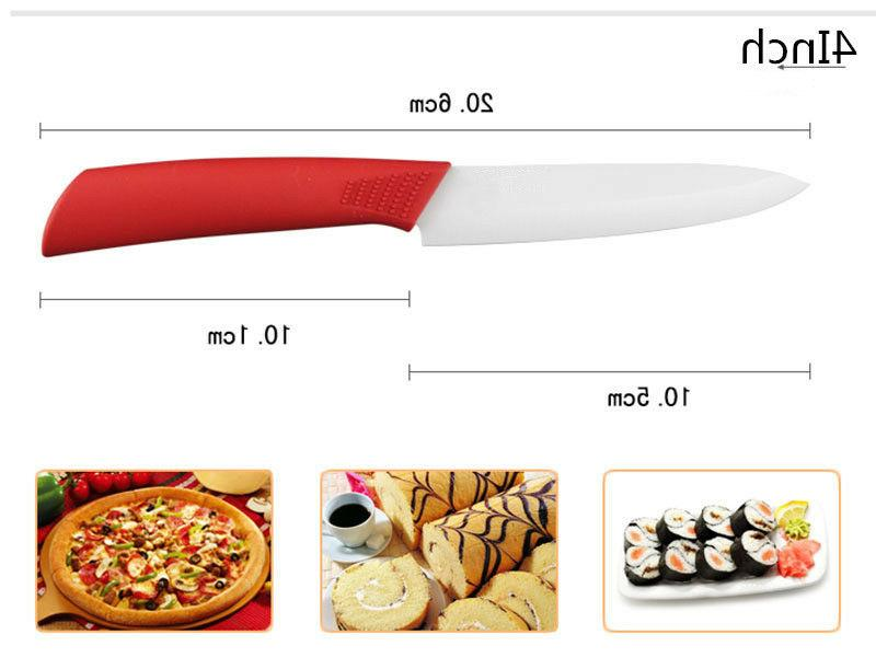 """4 Knife Chef Kitchen 3""""4""""5""""6 Colorful"""