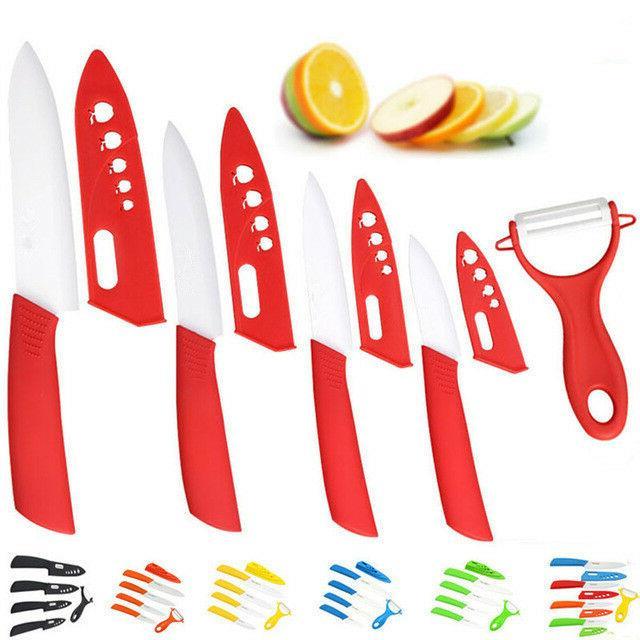 4 ceramic knife set chef kitchen knives