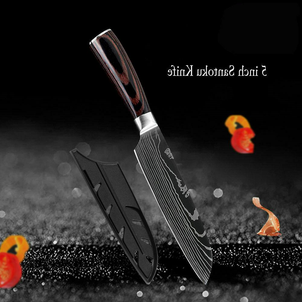 Kitchen Knives Chef Meat Cleaver Damascus Style Steel Knife