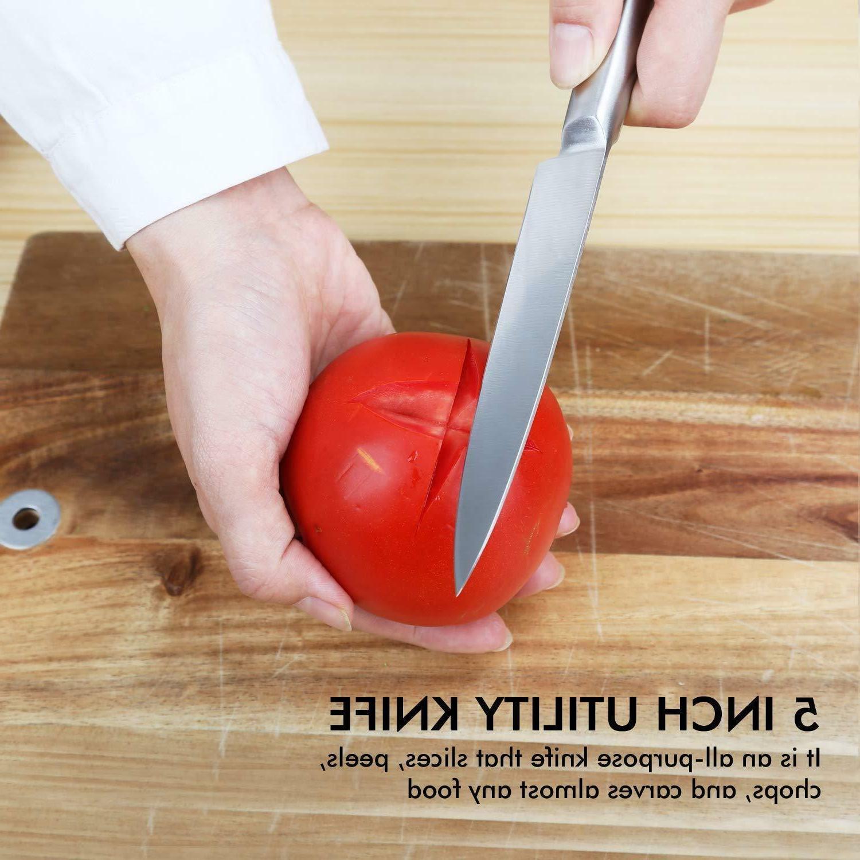 Heavy Duty 5 Kitchen Handle Knives w/ Box