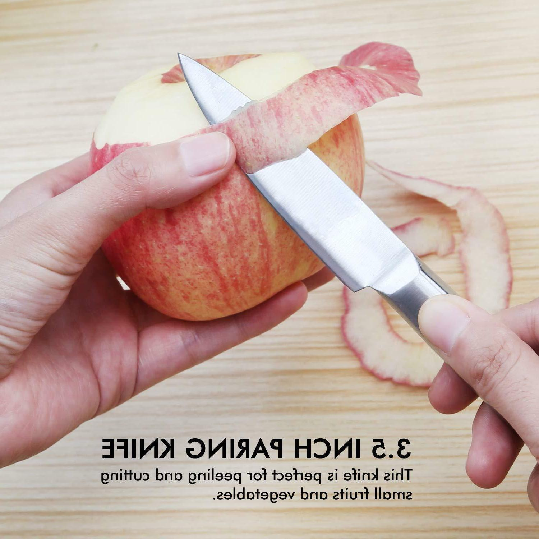 Heavy Kitchen Set Hollow Handle Knives w/ Box