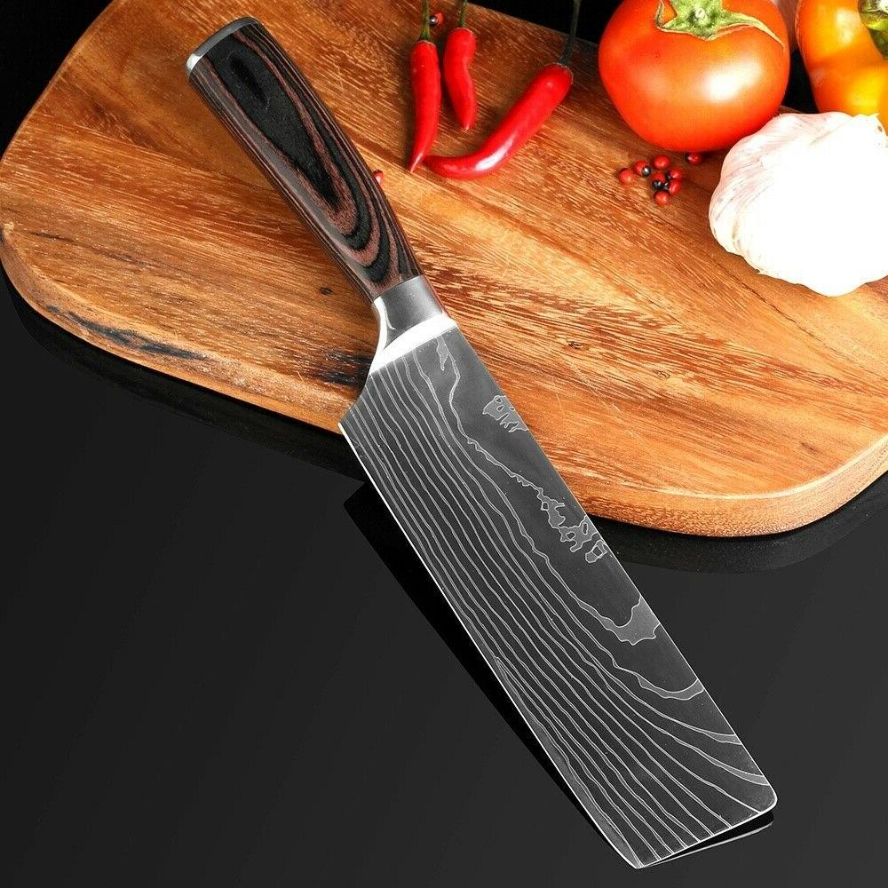 5 Kitchen Knives Set Japanese Stainless Chef