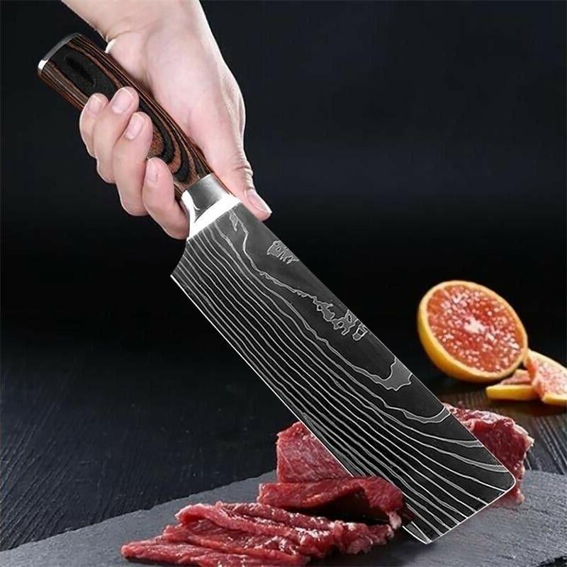 5 Set Damascus Stainless Steel Knife
