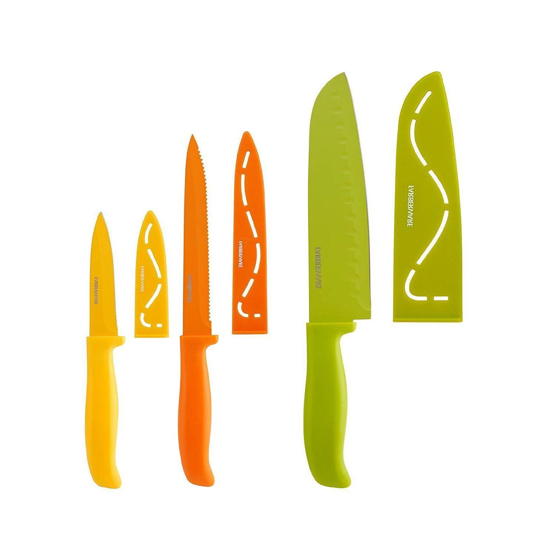 Farberware 5183157 Non-Stick Resin Knife Set, Multicolor