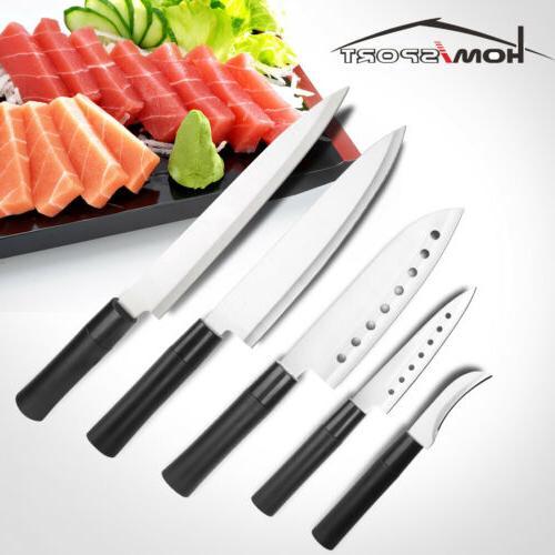 5pc japanese style kitchen knife set stainless