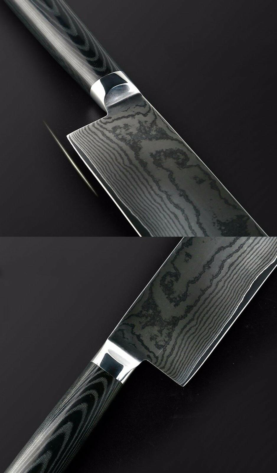 6.5 inch Chef Japanese Damascus VG-10 Kitchen Knife Cleaver