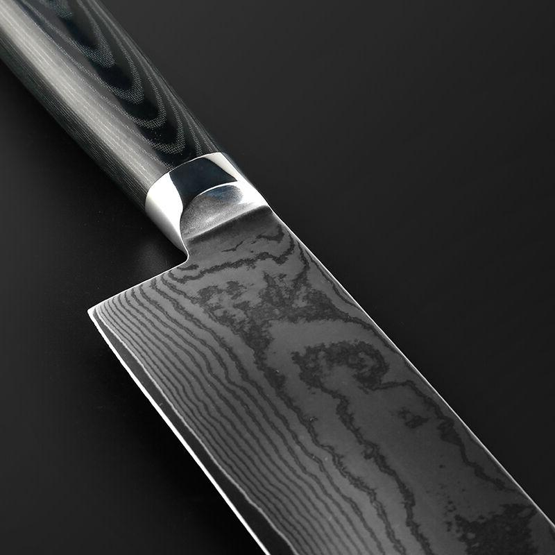 6.5 inch Chef Japanese Damascus Kitchen Cleaver