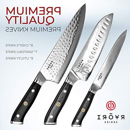 ChefWave Utility Knife – 67 Ultra Sharp Damascus Steel - Blade Handle, Comfort