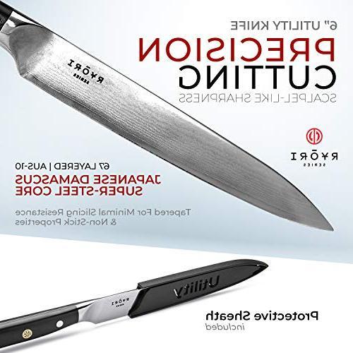ChefWave – Layers Ultra Sharp Damascus Steel - Blade Handle, Ryori Kitchen Knives