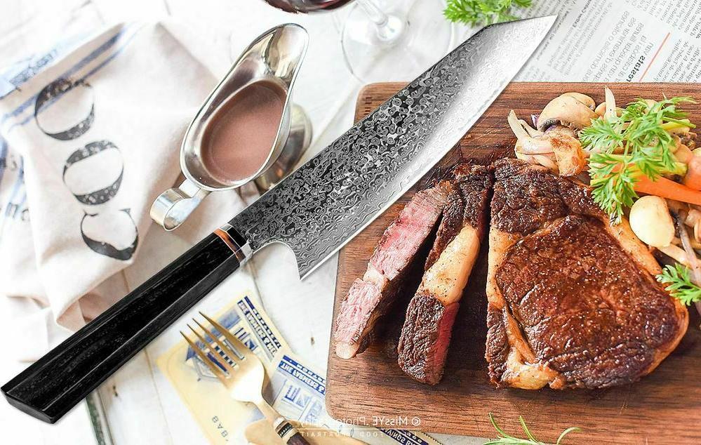 Handmade Japanese Damascus Kiritsuke Knife Handle Kitchen