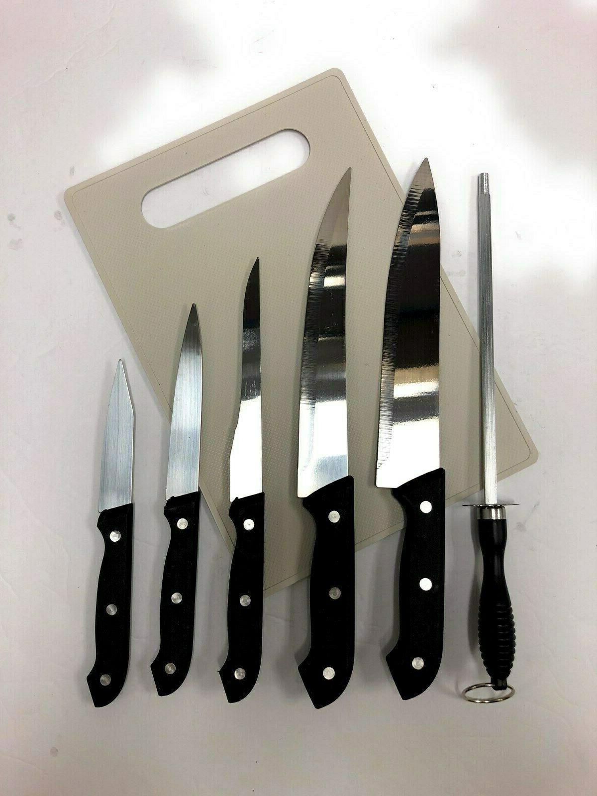 7 PC Knife Cutting Board
