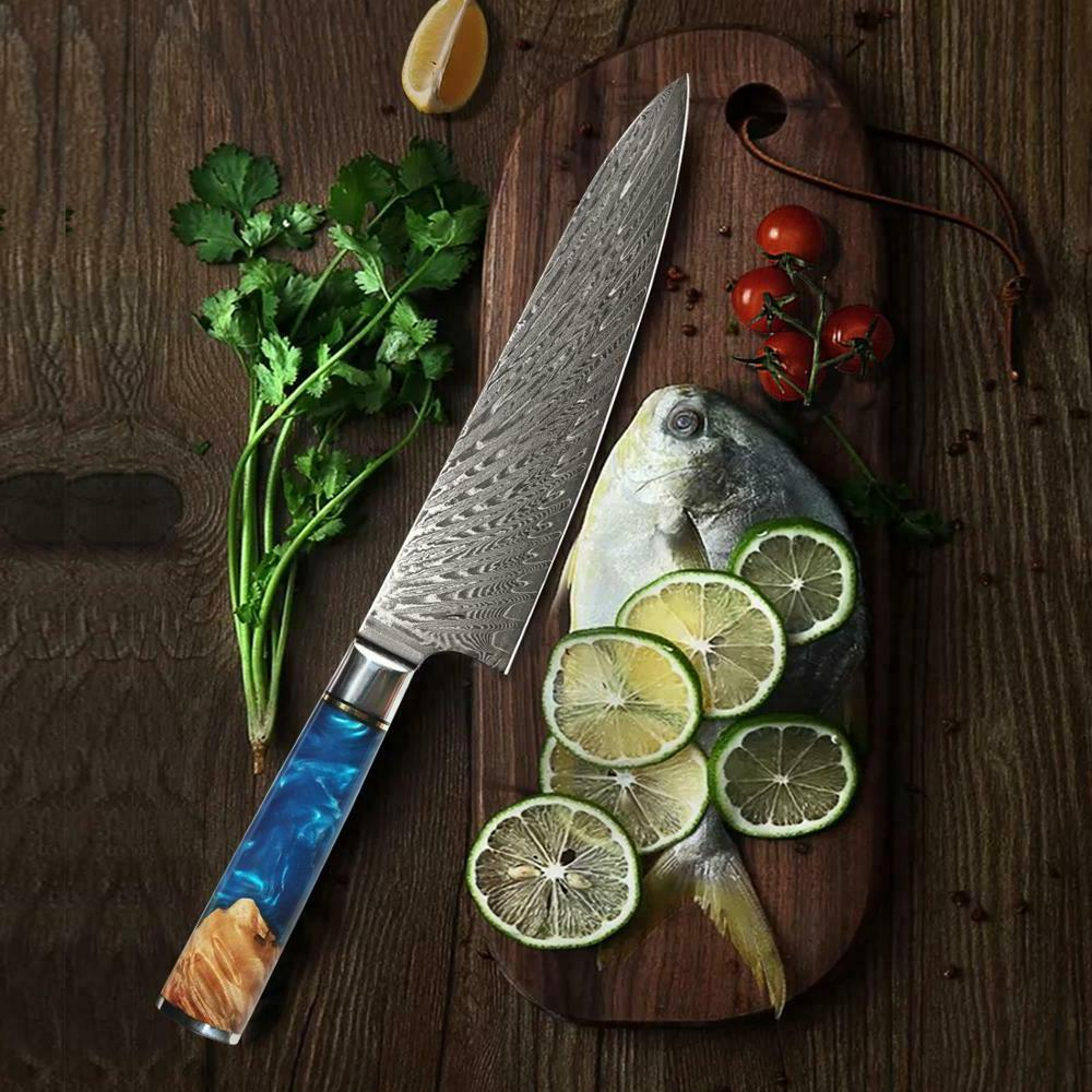 8.2'' Damascus Knives vg10 Chef