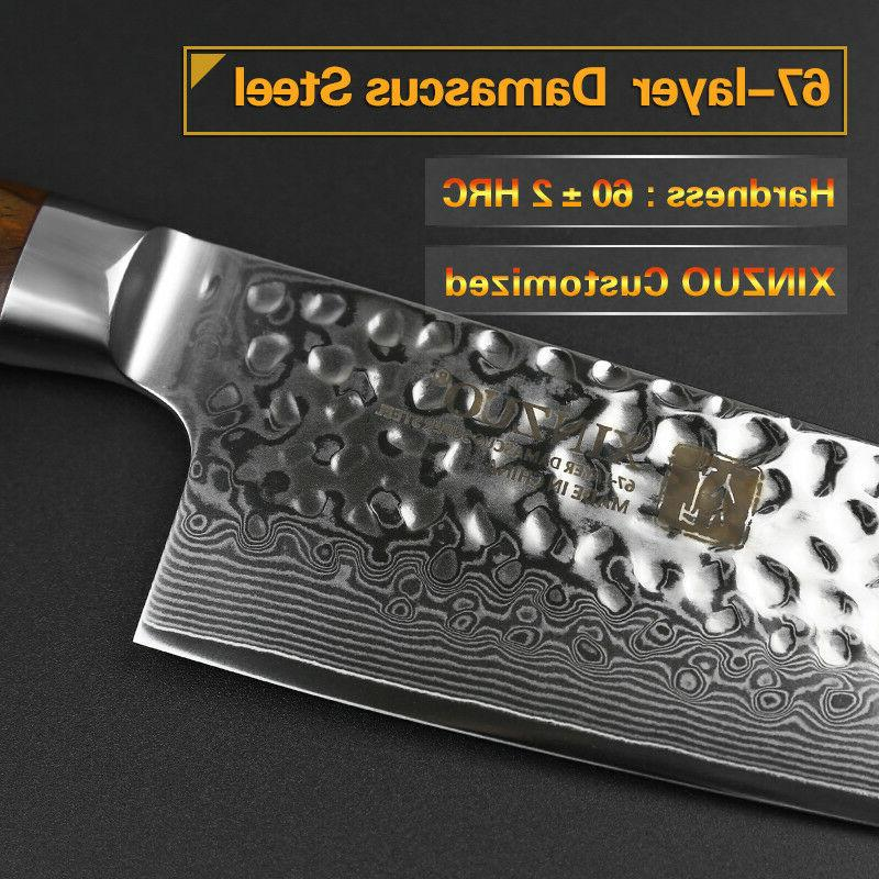 """8"""" damascus knife carbon handle knife as gift"""