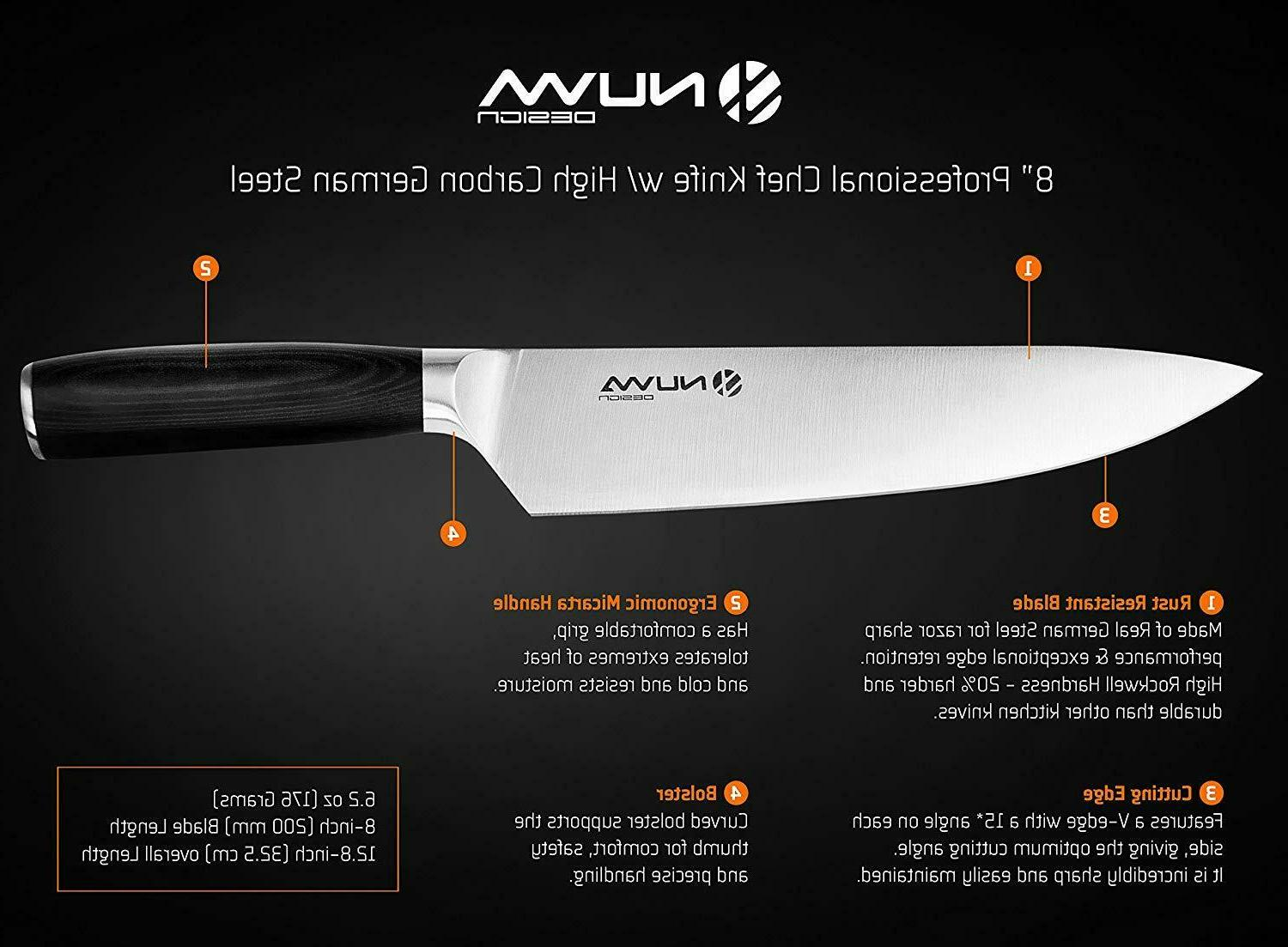 8 Chef Knife High Stainless Steel Blade - Knife