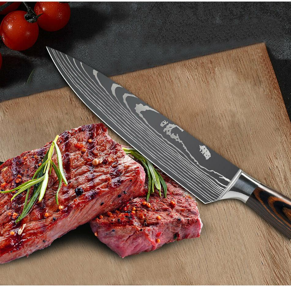 Kitchen Chef Cleaver Damascus Steel Knife