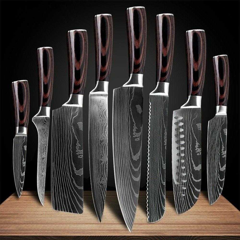 Kitchen Knives Set Stainless Steel Professional Chef