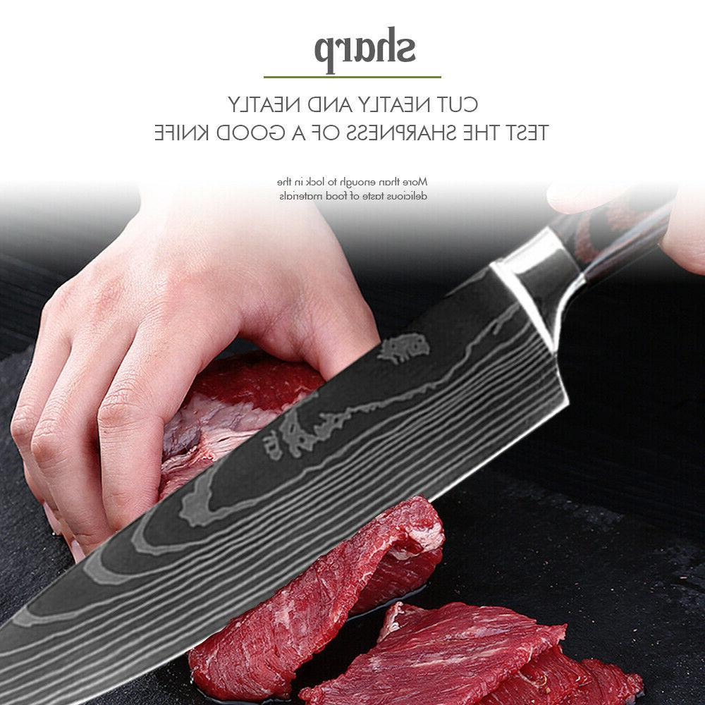 Chef Knives Knife Damascus Steel Pcs Sets