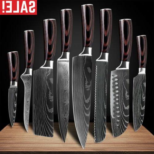 chef knives sets kitchen knife damascus pattern