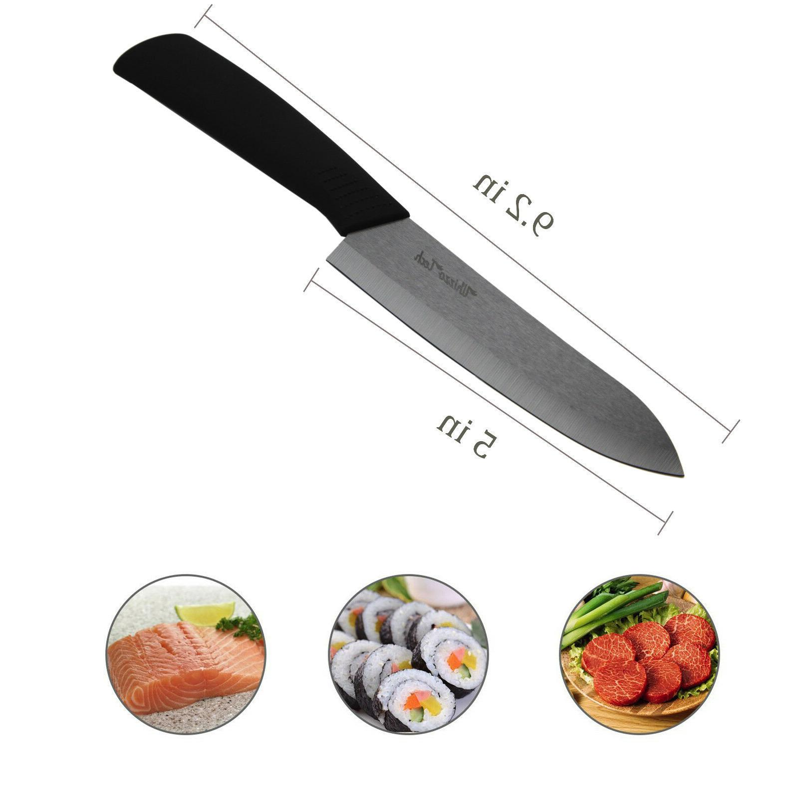 "Blade Ceramic knife Set Kitchen 3"" 4"" 5"" 6"" + Peeler Knife"