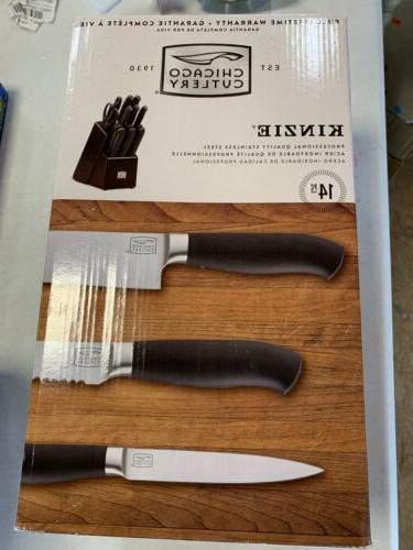 Chicago Cutlery Kinzie 14-Piece Block Knife Set - 1106279