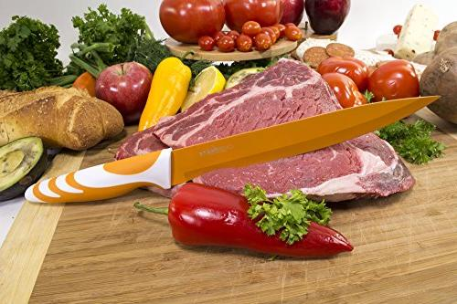 Chopmate Color Anti-Bacterial Non-Stick 8 Kitchen Knife Set
