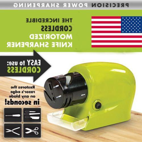 Multifunction Electric Cordless Knife Sharpener Motorized Ho