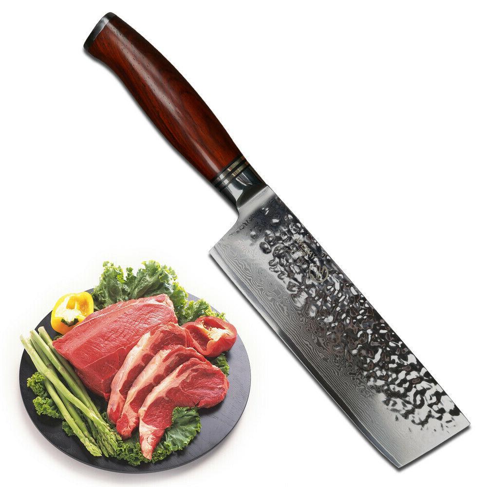 """YARENH 6.5"""" inch nakiri vegetable knives kitchen knives Dama"""