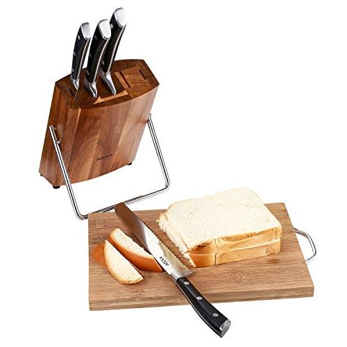 Aicok Kitchen Stainless Chef Block Set, 6 Knives Set Block