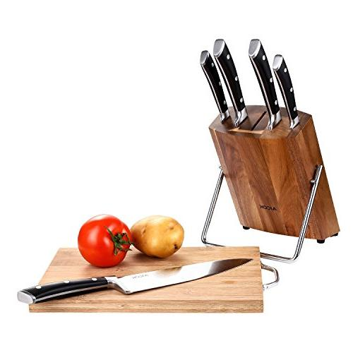 Aicok Knife Stainless Steel Chef Block Set, Piece Knives with Block