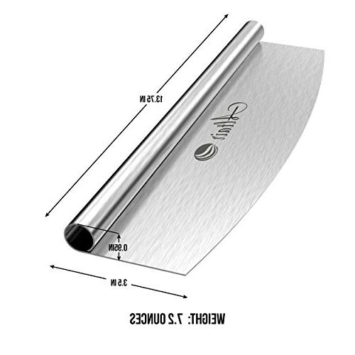 Altair Bonus Best 14 inch Pizza Cutter Knife with Heavy Blade and a Cover Dishwasher !!!