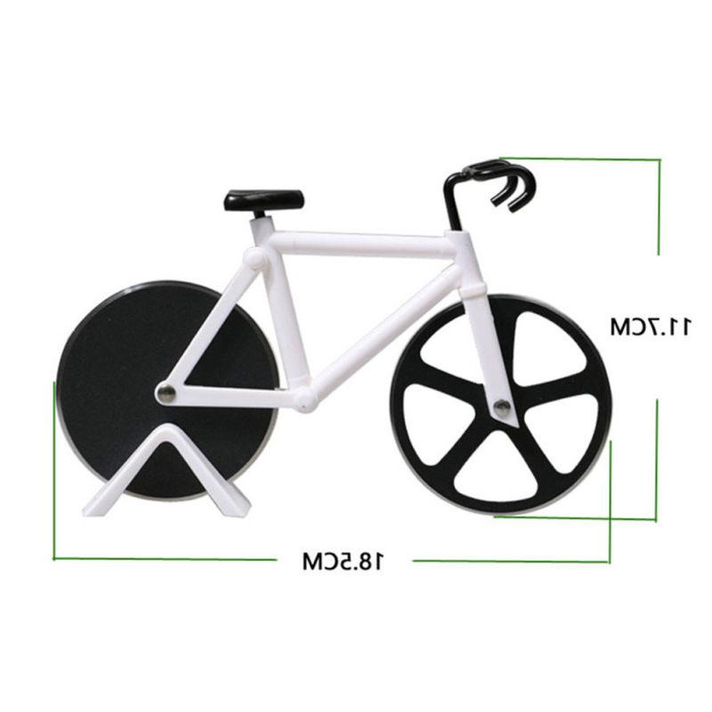Bicycle Pizza Cutter Dual Slicer Stainless Chopper