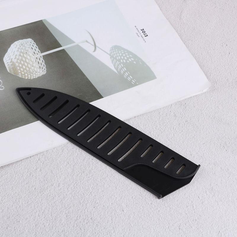 black plastic kitchen knife blade protector sheath