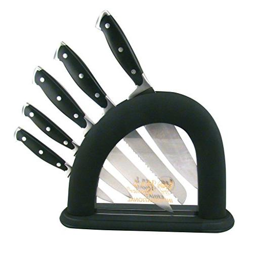 HEN & ROOSTER AND 6 Piece Black Synthetic Kitchen Cutlery Kn
