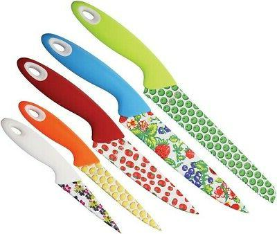 Benchmark BMK085 Kitchen Knives Neon Colors Set Of 5