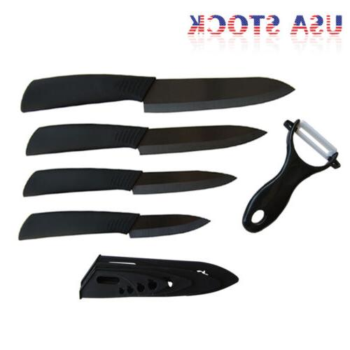 """Ceramic Kitchen Chef 3"""" 4"""" 5"""" + Blade Set Cutlery"""