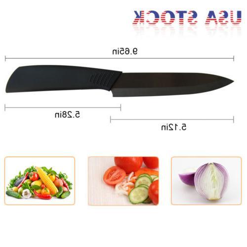 "Ceramic Kitchen Knives 3"" 4"" Blade Set Cutlery"