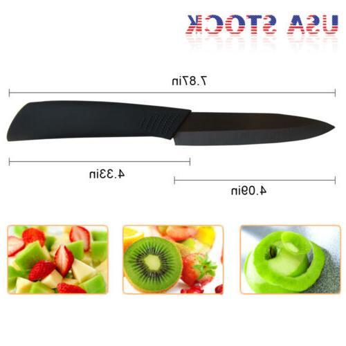 """Ceramic Knives 3"""" + Peeler Blade"""