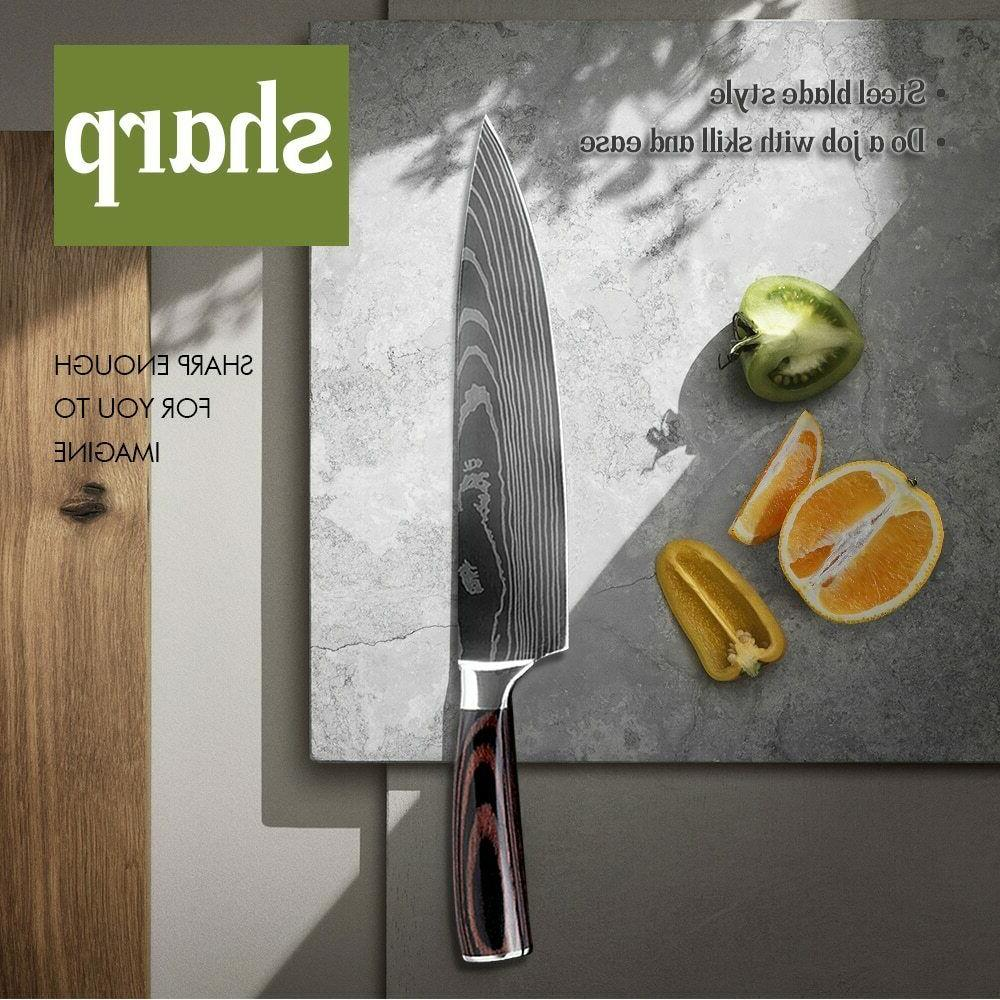 Chef Set High Carbon Set with Knife Block Holder